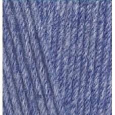 Lana cotton 374 голубой меланж